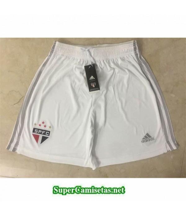 Tailandia Camisetas Sao Paulo Pantalones Blanco 2019/20