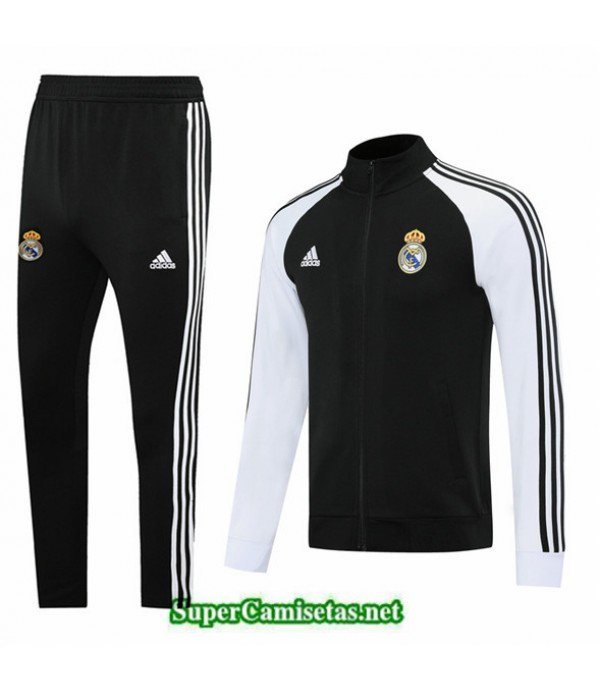 Tailandia Chaqueta Chandal Real Madrid Negro/blanco 2020/21