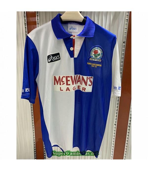 Tailandia Primera Camisetas Clasicas Blackburn Hombre 1994 95