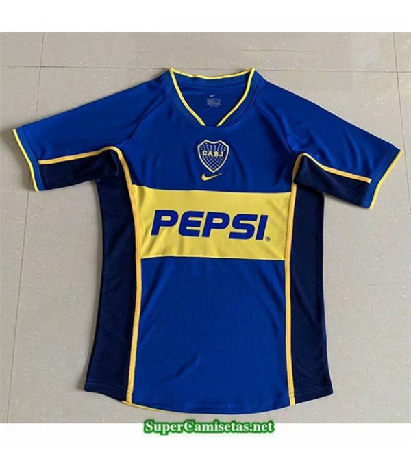 Tailandia Primera Camisetas Clasicas Boca Juniors Hombre 2002