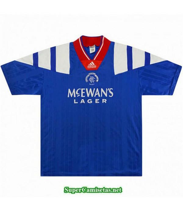 Tailandia Primera Camisetas Clasicas Rangers Hombre 1992 94