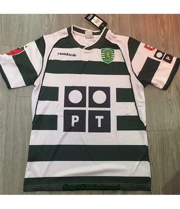 Tailandia Primera Camisetas Clasicas Sporting Lisbon Hombre 2001 03