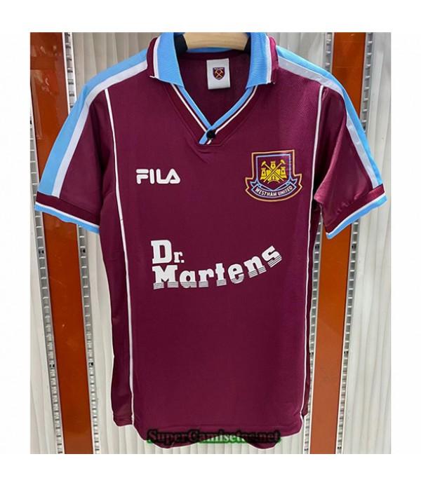 Tailandia Primera Camisetas Clasicas West Ham United Hombre 1999 01