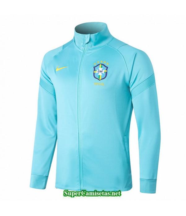 Tailandia Camiseta Brasil Chaqueta Azul 2020/21
