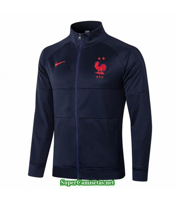 Tailandia Camiseta Francia Chaqueta Azul Marino Cuello Alto 2020/21
