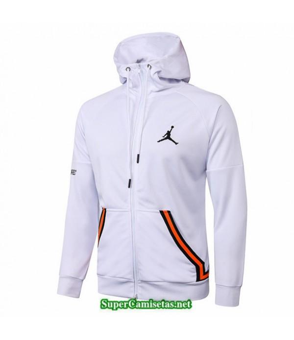 Tailandia Camiseta Jordan Chaqueta Sombrero Blanco 2020/21