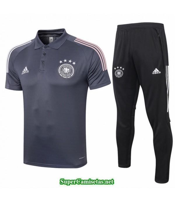Tailandia Camiseta Kit De Entrenamiento Alemania Polo Gris Oscuro 2020/21