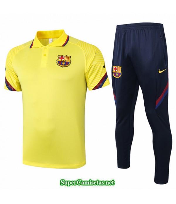 Tailandia Camiseta Kit De Entrenamiento Barcelona Polo Amarillo 2020/21
