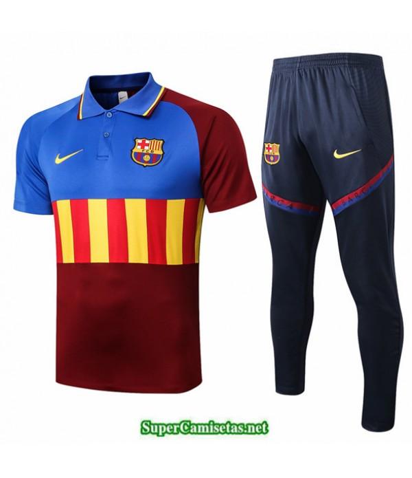 Tailandia Camiseta Kit De Entrenamiento Barcelona Polo Azul/rojo/amarillo 2020/21