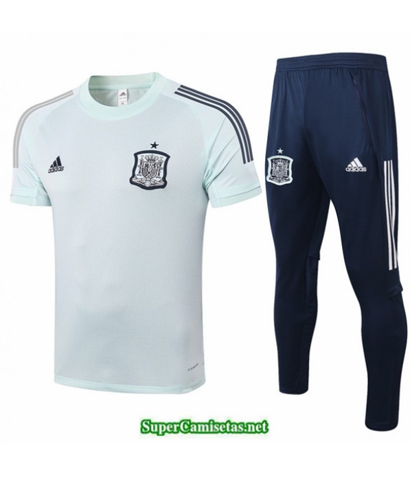 Tailandia Camiseta Kit De Entrenamiento España Verde Claro 2020/21