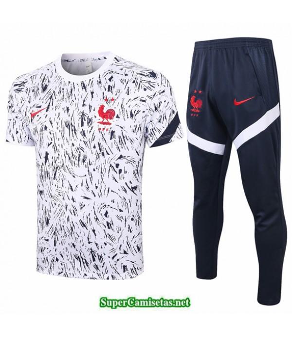 Tailandia Camiseta Kit De Entrenamiento Francia Blanco 2020/21