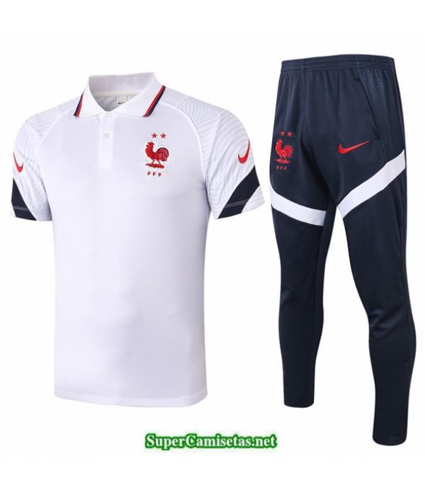 Tailandia Camiseta Kit De Entrenamiento Francia Polo Blanco 2020/21