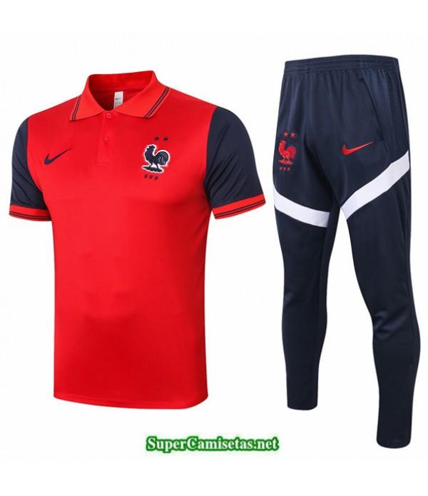 Tailandia Camiseta Kit De Entrenamiento Francia Polo Rojo 2020/21