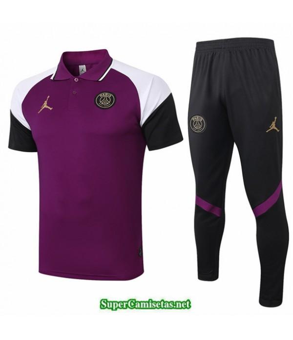 Tailandia Camiseta Kit De Entrenamiento Jordan Polo Púrpura 2020/21