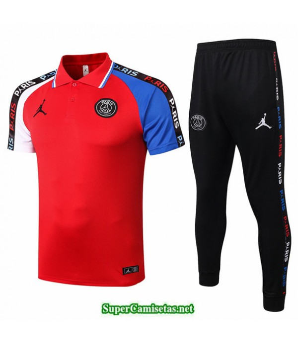 Tailandia Camiseta Kit De Entrenamiento Jordan Polo Rojo/blanco/azul 2020/21