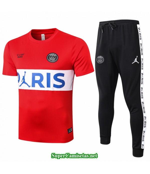 Tailandia Camiseta Kit De Entrenamiento Jordan Psg Rojo/blanco 2020/21
