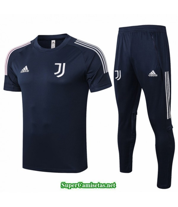 Tailandia Camiseta Kit De Entrenamiento Juventus Azul Oscuro 2020/21
