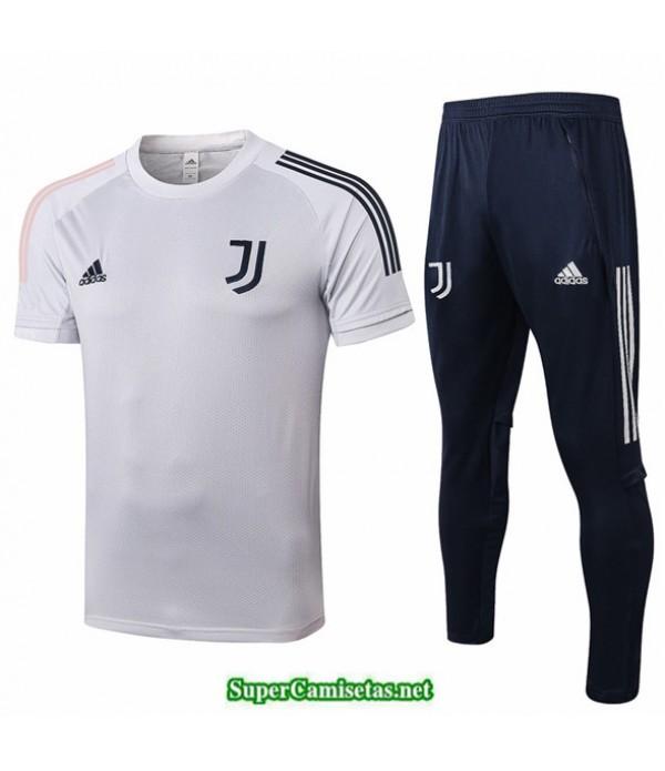 Tailandia Camiseta Kit De Entrenamiento Juventus Gris Claro 2020/21
