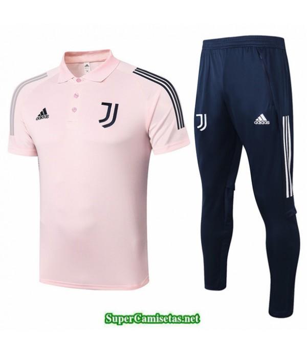 Tailandia Camiseta Kit De Entrenamiento Juventus Polo Rosa 2020/21