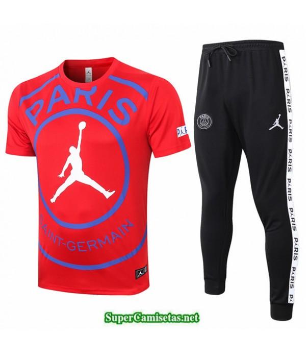 Tailandia Camiseta Kit De Entrenamiento Psg Jordan Rojo 2020/21
