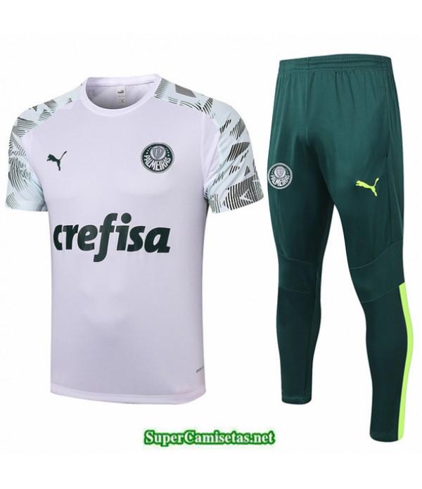 Tailandia Camiseta Kit De Entrenamiento Palmeiras Blanco 2020/21