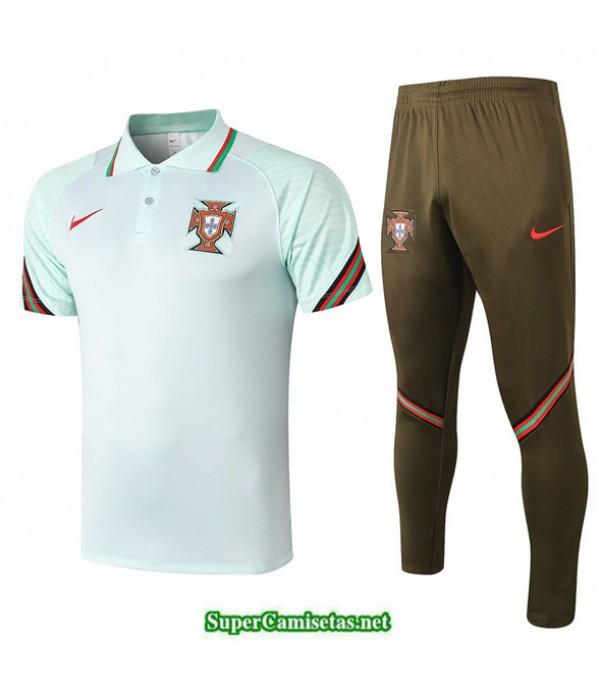 Tailandia Camiseta Kit De Entrenamiento Portugal Polo Verde 2020/21