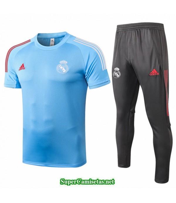 Tailandia Camiseta Kit De Entrenamiento Real Madrid Azul Claro 2020/21