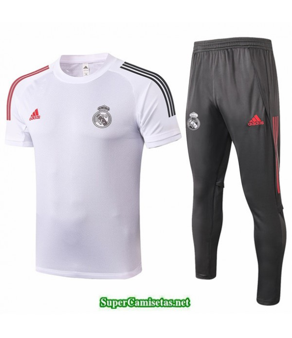 Tailandia Camiseta Kit De Entrenamiento Real Madrid Blanco 2020/21