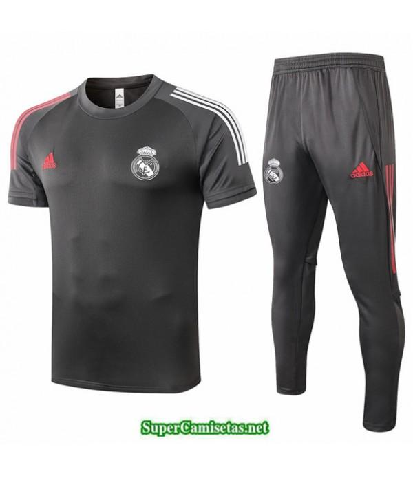 Tailandia Camiseta Kit De Entrenamiento Real Madrid Gris Oscuro 2020/21