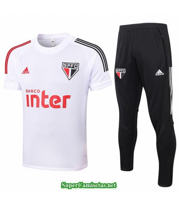 Tailandia Camiseta Kit De Entrenamiento Sao Paulo Blanco 2020/21