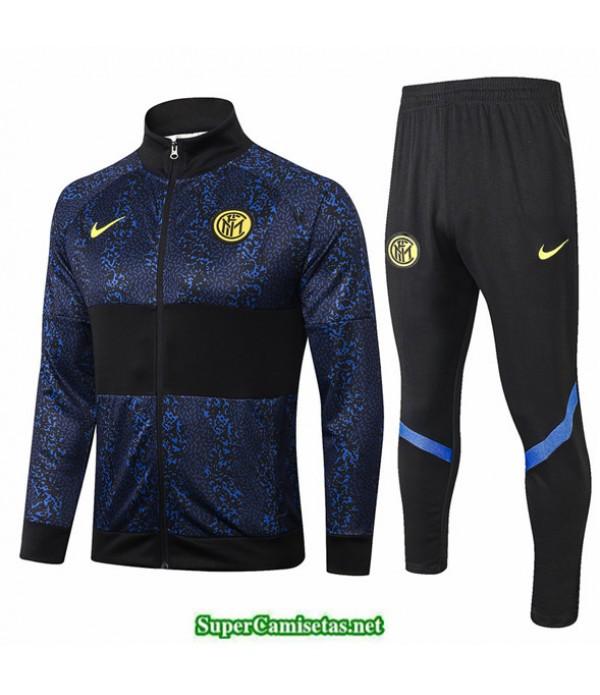 Tailandia Chaqueta Chandal Inter Milan Azul Oscuro/negro 2020/21