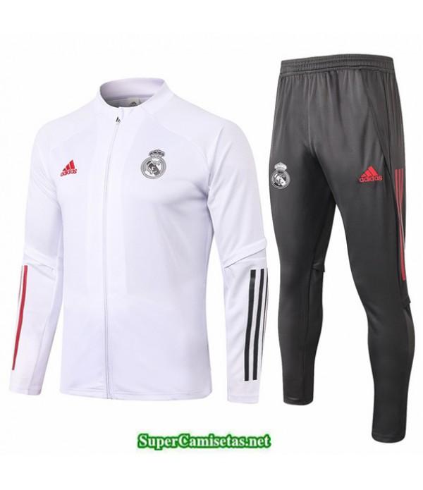 Tailandia Chaqueta Chandal Real Madrid Blanco 2020/21