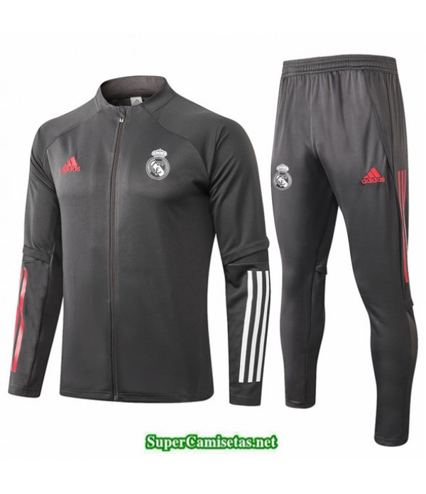 Tailandia Chaqueta Chandal Real Madrid Gris Oscuro 2020/21