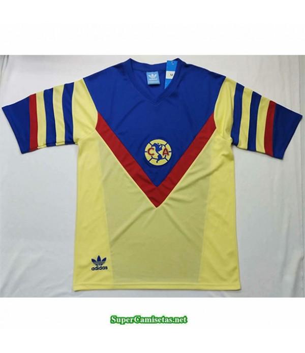 Tailandia Equipacion Camiseta Camisetas Clasicas Cf America Amarillo Hombre 1987