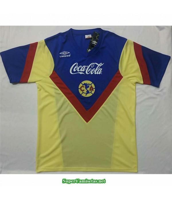 Tailandia Equipacion Camiseta Camisetas Clasicas Cf America Amarillo Hombre 1988