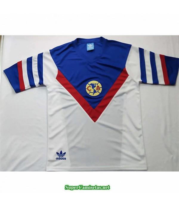 Tailandia Equipacion Camiseta Camisetas Clasicas Cf America Blanco Hombre 1987