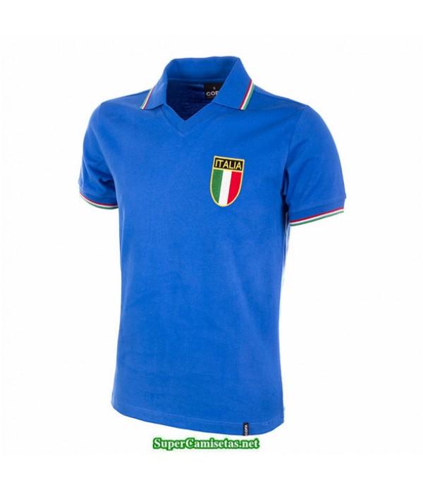 Tailandia Equipacion Camiseta Camisetas Clasicas Italia Hombre Azul 1982