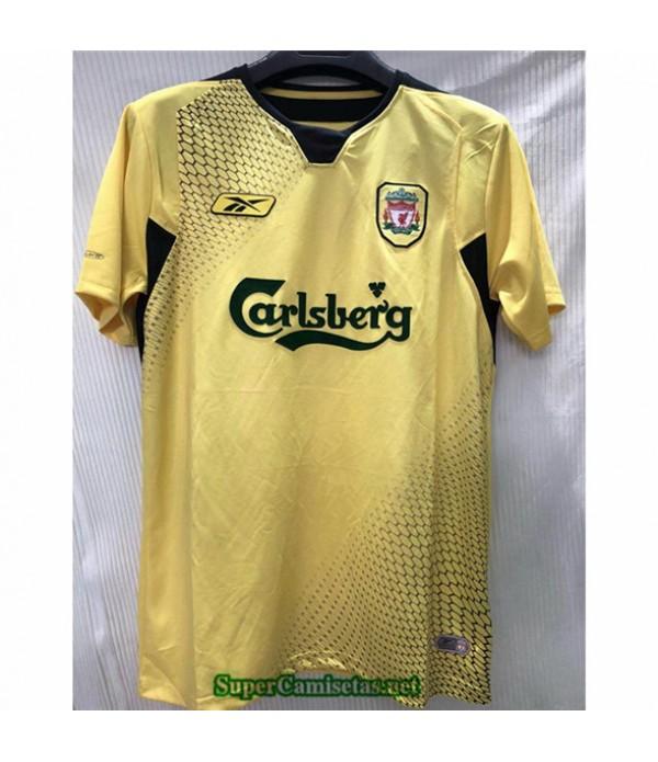Tailandia Equipacion Camiseta Camisetas Clasicas Liverpool Amarillo Hombre 2004 05