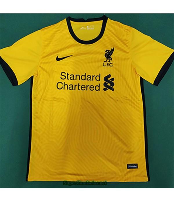 Tailandia Equipacion Camiseta Liverpool Amarillo 2...