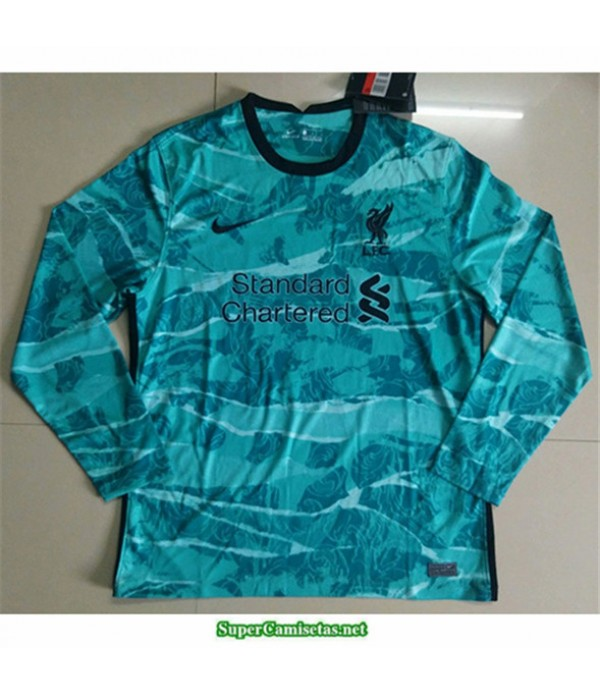 Tailandia Equipacion Camiseta Liverpool Verde Mang...