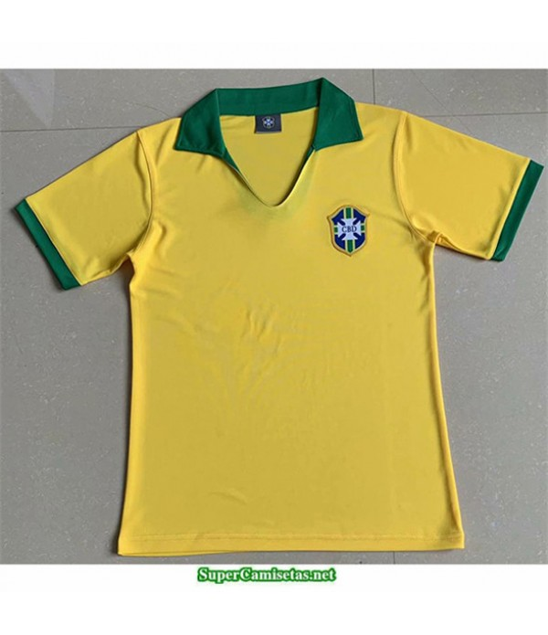 Tailandia Primera Equipacion Camiseta Camisetas Clasicas Brasil Hombre 1957
