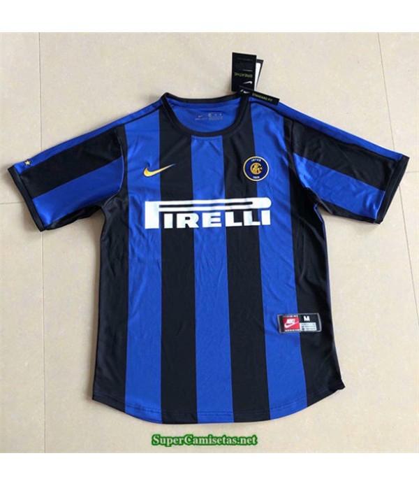 Tailandia Primera Equipacion Camiseta Camisetas Clasicas Inter Milan Hombre 1999 00