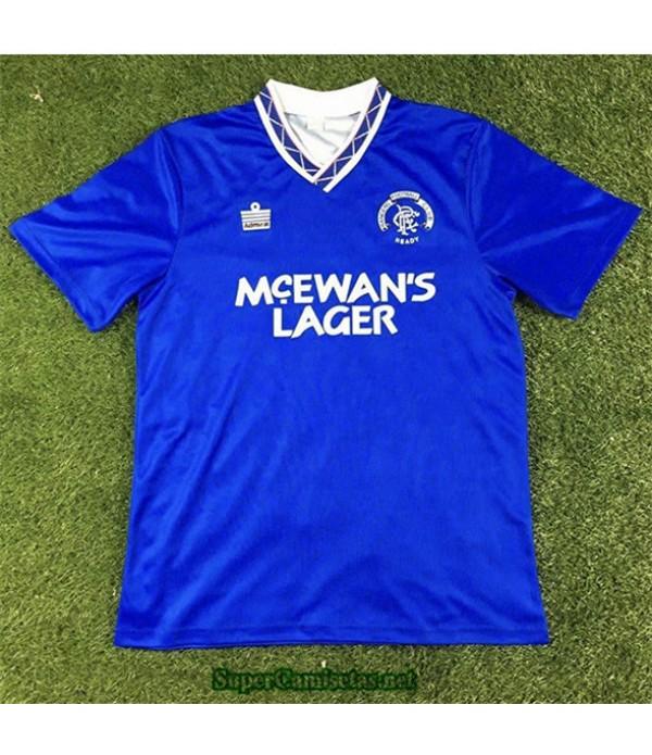 Tailandia Primera Equipacion Camiseta Camisetas Clasicas Rangers Hombre 1990 92
