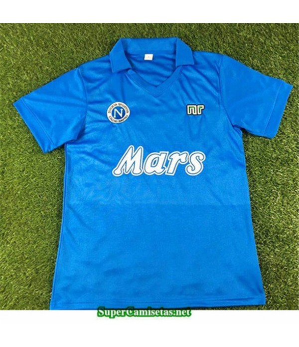 Tailandia Primera Equipacion Camiseta Camisetas Clasicas Napoles Hombre 1988 89