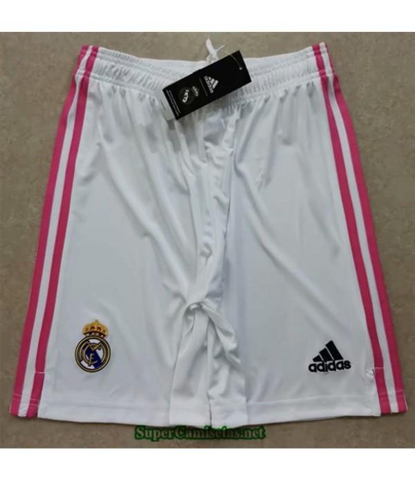 Tailandia Primera Equipacion Camiseta Real Madrid Pantalones 2020/21