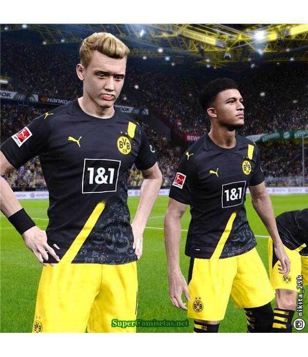 Tailandia Segunda Equipacion Camiseta Borussia Dortmund Negro 2020/21