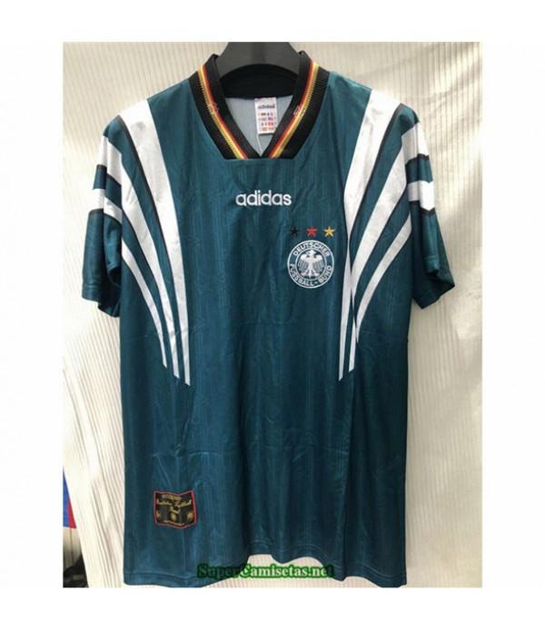 Tailandia Segunda Equipacion Camiseta Camisetas Clasicas Alemania Hombre Verde 1996 1998