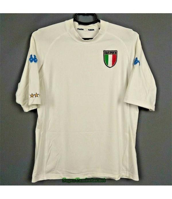 Tailandia Segunda Equipacion Camiseta Camisetas Clasicas Italia Hombre Blanco 2000