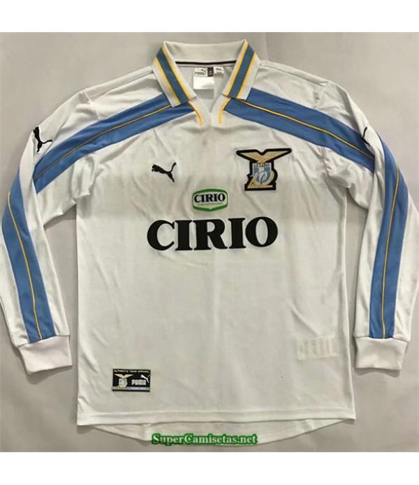 Tailandia Segunda Equipacion Camiseta Camisetas Clasicas Lazio Hombre Manga Larga 2000 01