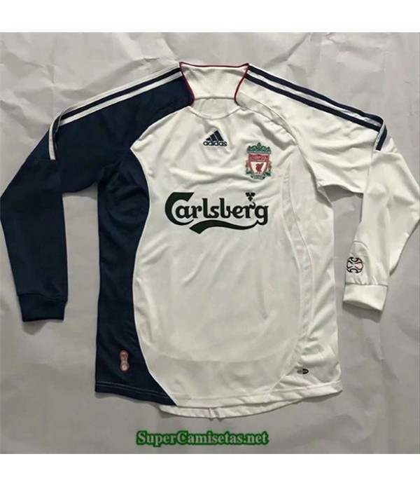 Tailandia Segunda Equipacion Camiseta Camisetas Clasicas Liverpool Hombre Manche Longue 2006 07